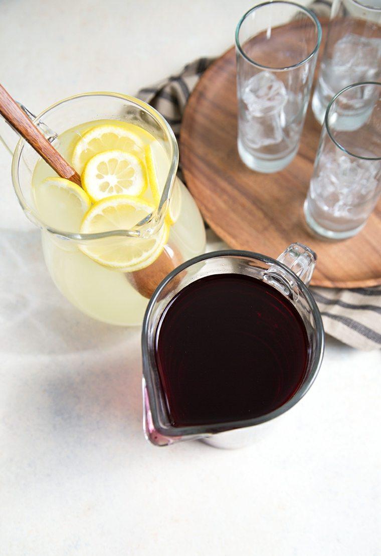 bebidas con ron-sin-alcohol-agua-de-jamaica