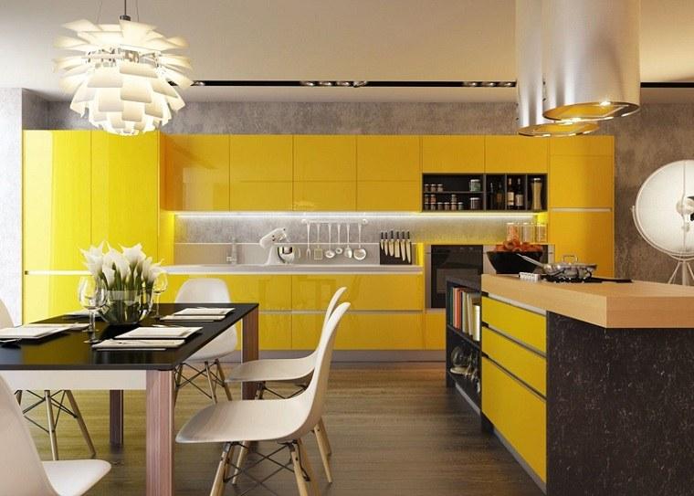 bella-cocina muebles-amarillos