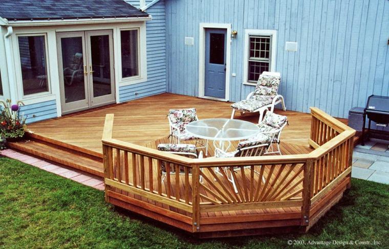 bonita terraza de madera