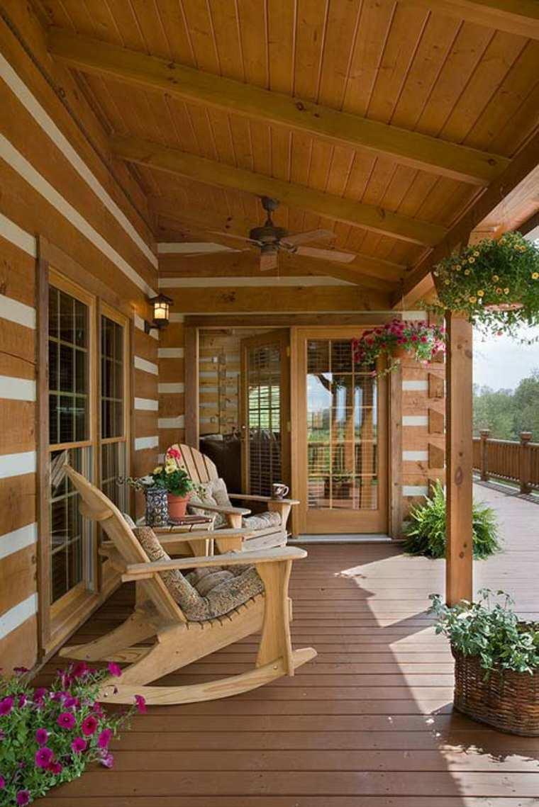diseños de porches de madera tradicionales