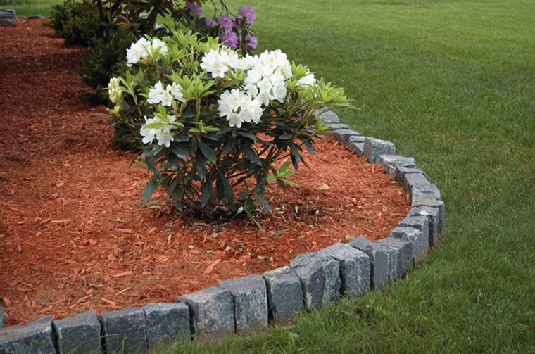 delimitar jardines con rocas