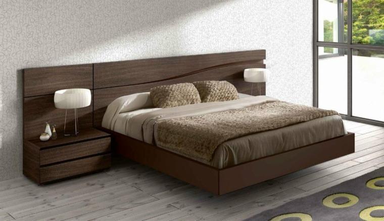 cabeceras de madera para cama-decorar