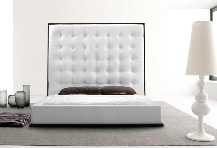 cabeceras modernas-blanco-decorar-dormitorios