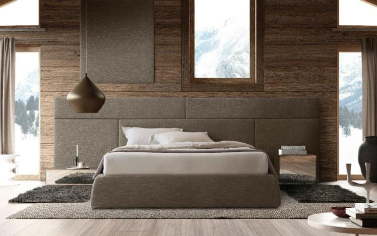cabeceras modernas-dormitorios-madera