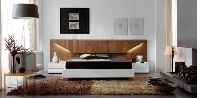 cabeceras modernas-madera-decorar-dormitorios
