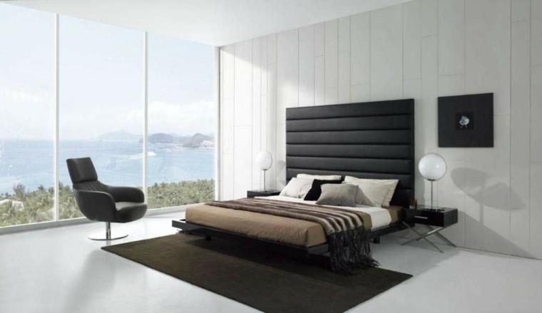cabeceras modernas-negro-decorar-dormitorio