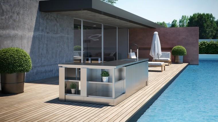 Dise o de cocinas modernas al aire libre perfectas para tu for Cocinas en terrazas