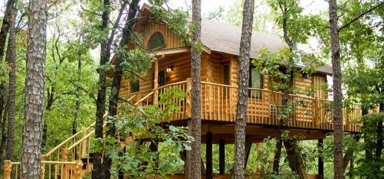 cabañas de madera modernas