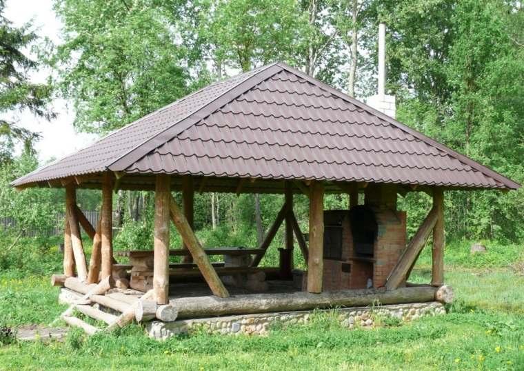 casas con porche y jardin-clasico-decorar