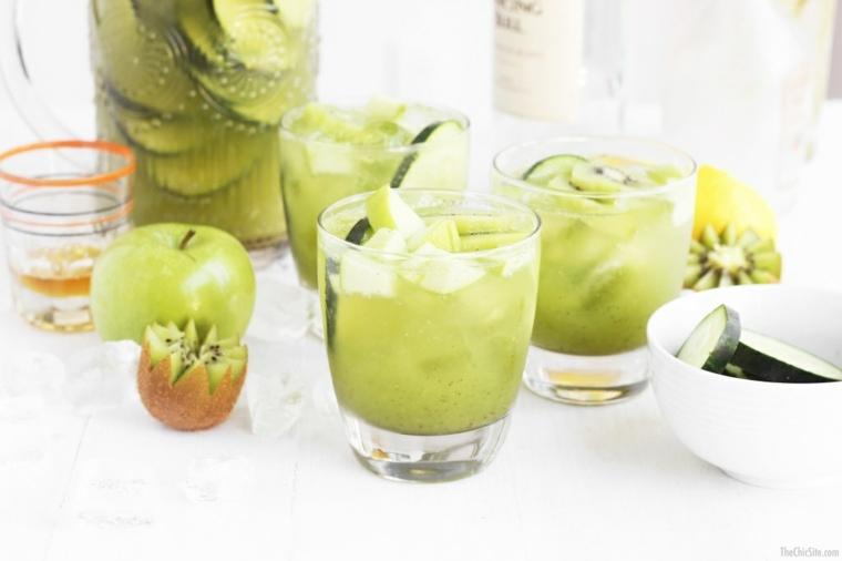 cocteles con granada-frutas-kiwi-soda