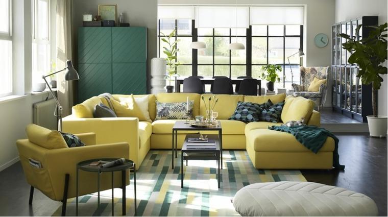 sala de estar moderna con muebles Ikea