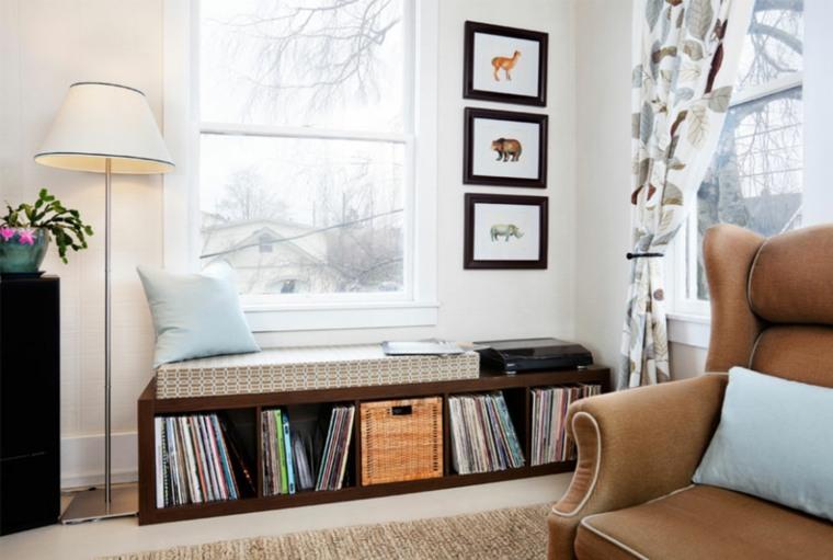 diseño de sala de estar moderna con muebles de Ikea