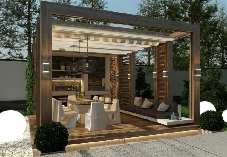 construir un porche-madera-moderno-jardin