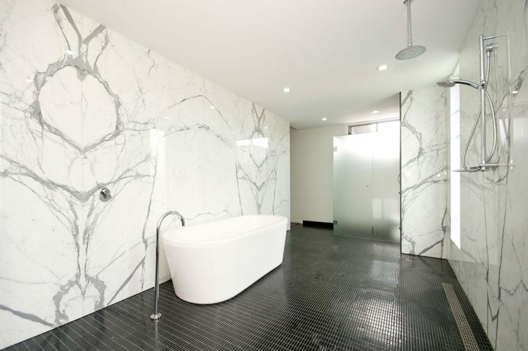 cuartos de bano-decorados-marmol-blanco