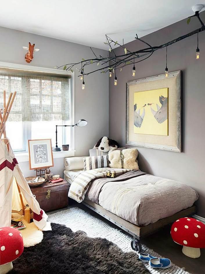 decoración de cuartos para niños con-bombillas