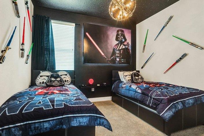 Decoración de cuartos para niños con bombillas Edison -