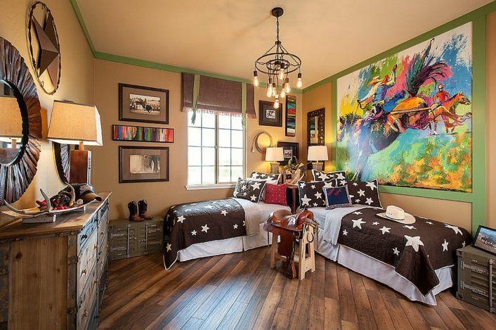 decoración de cuartos para niños rustica