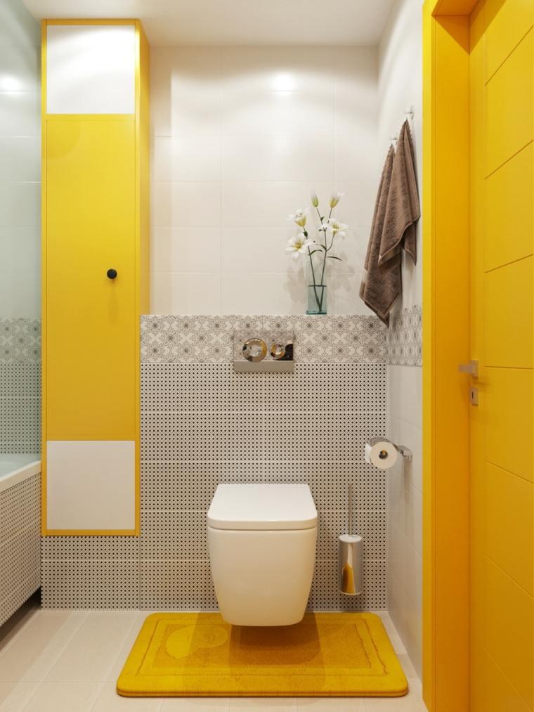 Decoracion de ba os peque os con diferentes colores modernos - Colores para banos ...