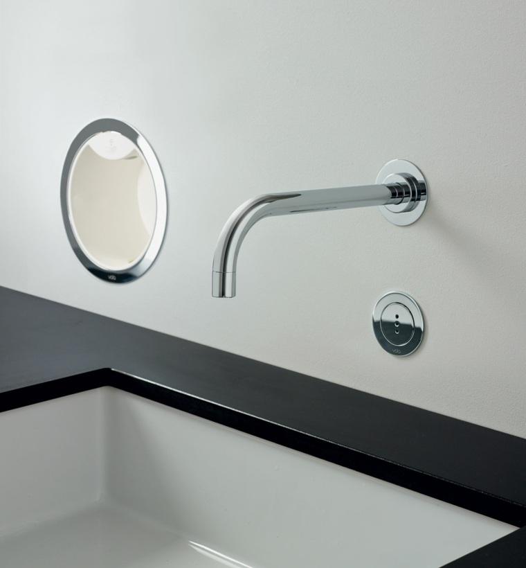 decoracion de banos-grifos-lavabos-negros