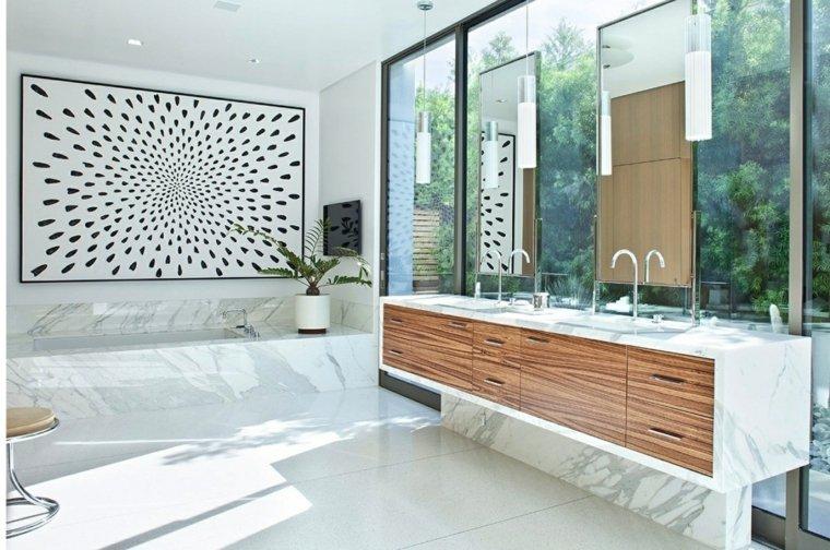 decoracion de banos-marmol-blanco