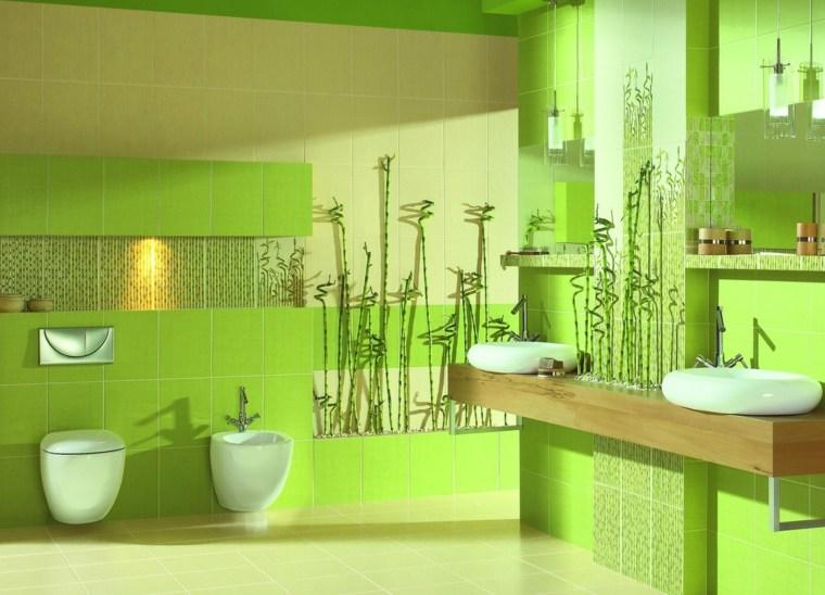 decoracion de banos-modernos-verde