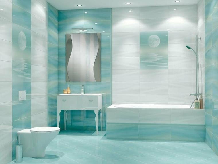 decoracion de banos pequenos-estilo-azul