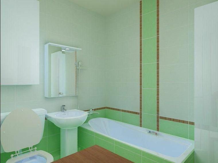 decoracion de banos pequenos-verde