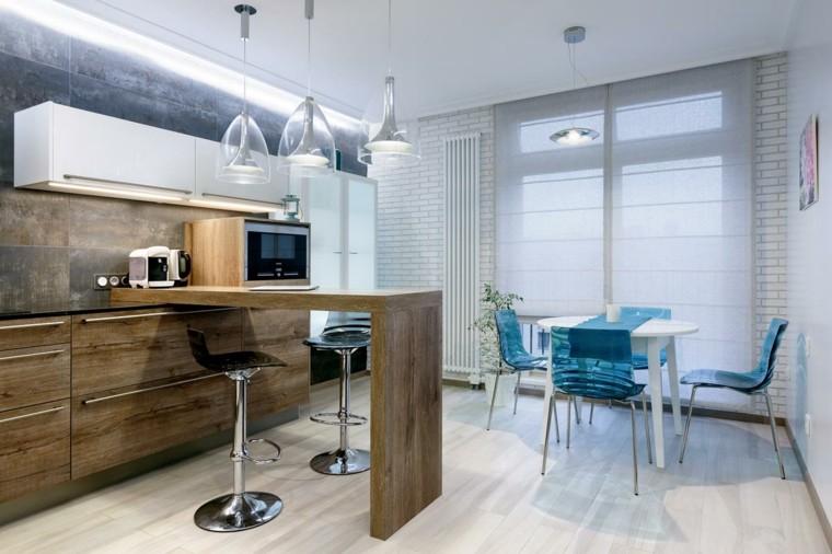 decoracion de casas modernas-cocinas-pequenas