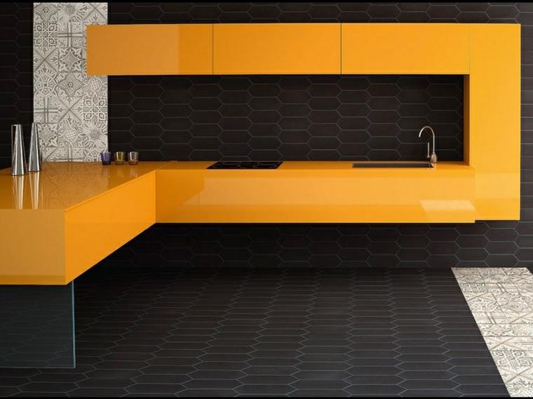 decoracion de cocinas-minimalistas-negro