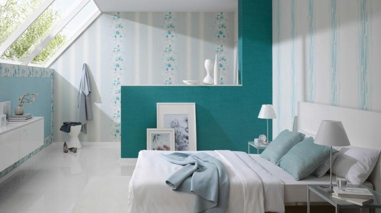decoracion de dormitorios-blanco-turquesa