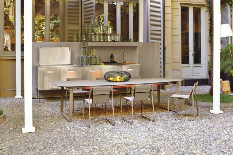 Asombroso Cocina Al Aire Libre Moderna Viñeta - Ideas de Decoración ...