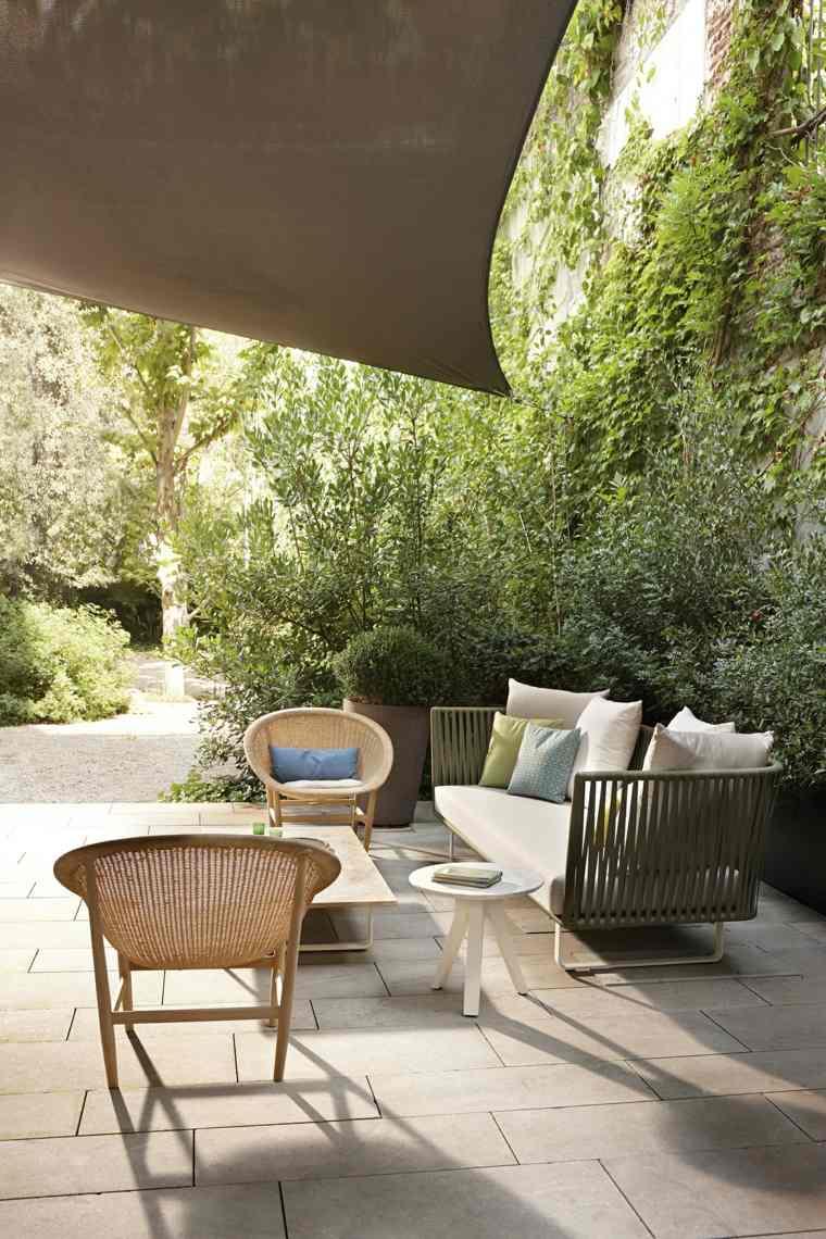 decoración de exteriores-jardin-contemporaneo-muebles-diseno