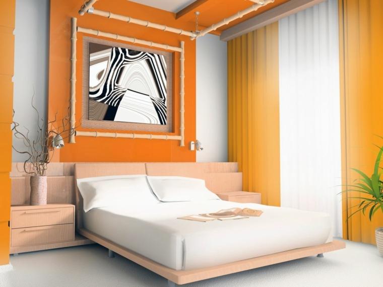 decoracion de habitaciones-blanco-naranja