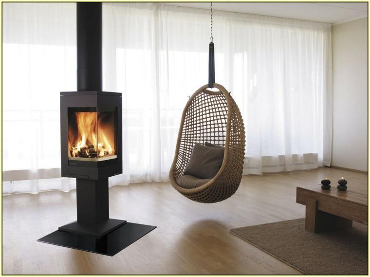 decoracion de interiores-modernos-hamacas