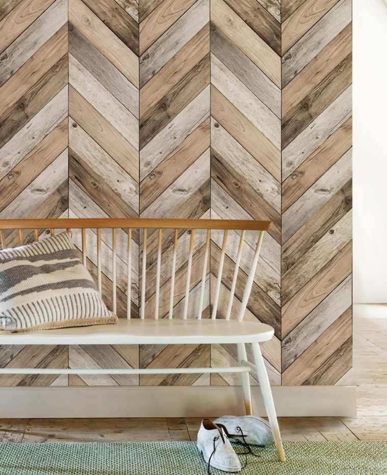 decoracion de paredes-enlosado-madera