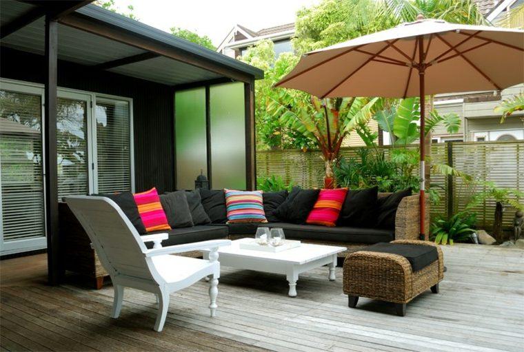 decoracion de terrazas-modernas-muebles