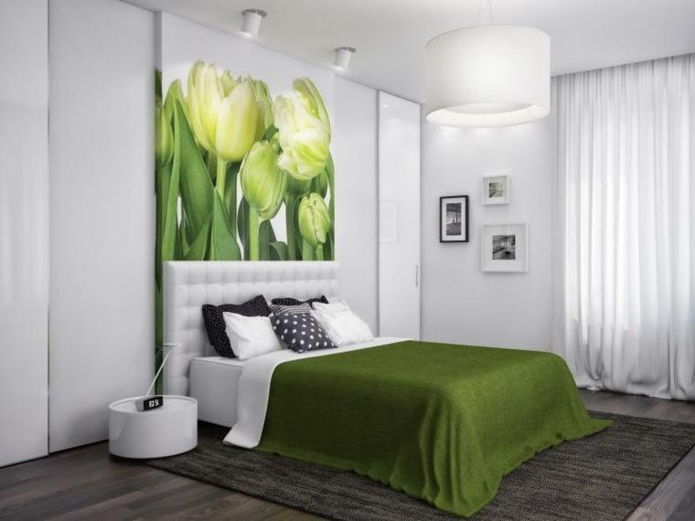 decoracion dormitorios-modernos-blanco-verde
