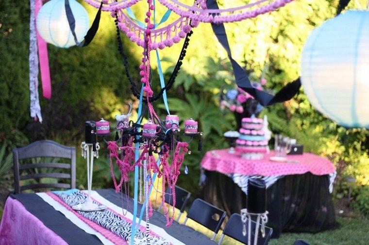 decoracion-fiesta-ninos-rosa-negro
