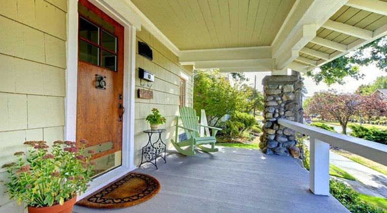 diseños de porches de madera
