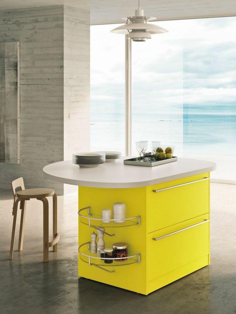 decoración moderna-cocina-contemporanea-isla