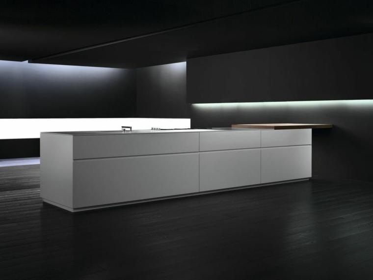 decoracion para cocinas-minimalistas-negro