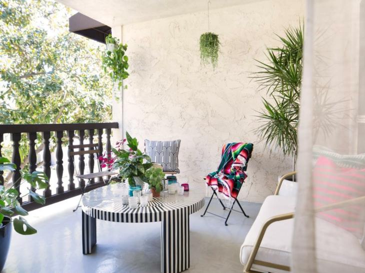 decoracion salon plantas colgantes