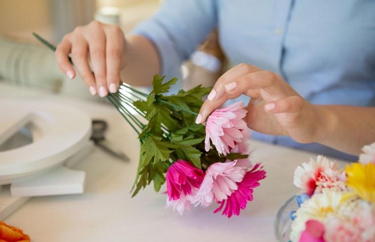 decoraciones para casas-flores-falsas-seda