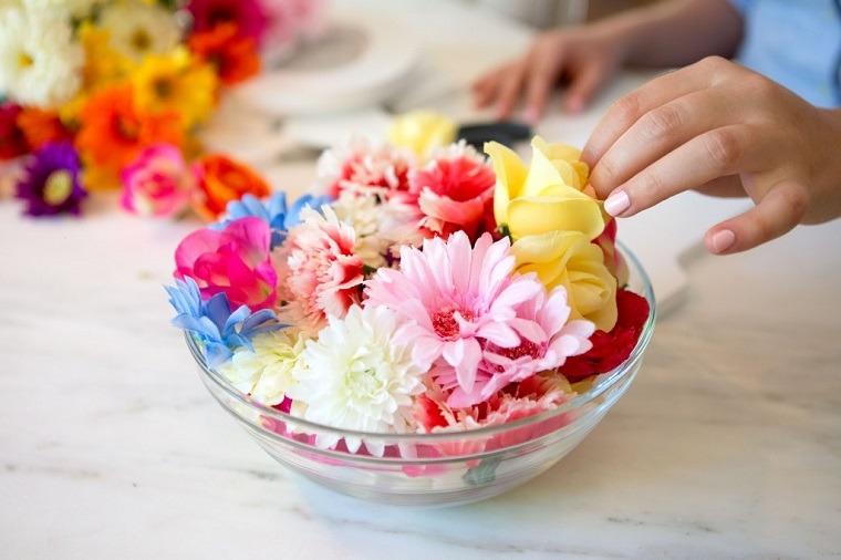 decoraciones para casas-flores-tallos-retirados