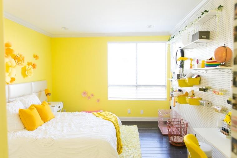 decoraciones para habitaciones-blanco-amarillo