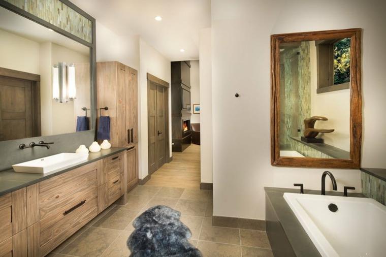 decoraciones rústicas de interiores de casas-aspen-leaf-interiors-bano