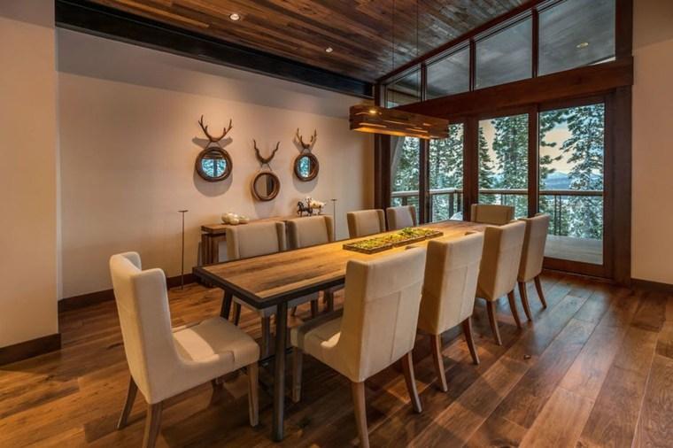 decoraciones rústicas de interiores de casas-aspen-leaf-interiors-comedor