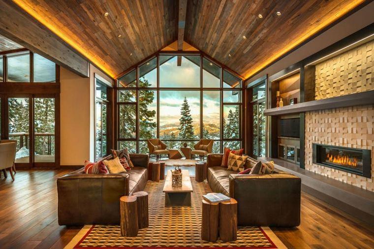 decoraciones rústicas de interiores de casas aspen-leaf-interiors-sala-estar