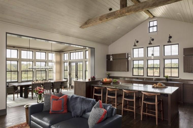 decoraciones-rusticas-de-interiores-de-casas-cocina-plano-abierto