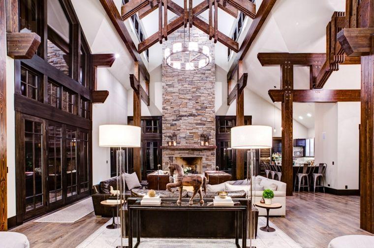 decoraciones-rusticas-de-interiores-de-casas-detalles-lamparas-pie